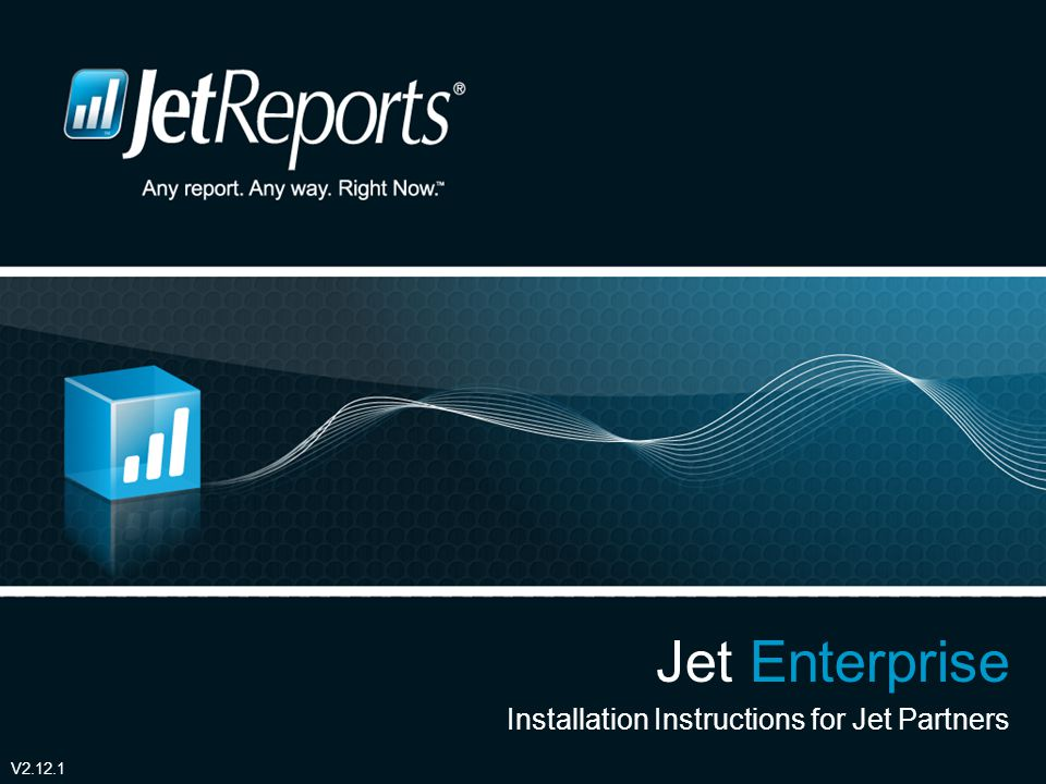 Sample Reports and other useful Resources Jet Enterprise Resource site http://www.jetreports.com/welcome-enterprise/ http://www.jetreports.com/welcome-enterprise/ This site contains installation files, tutorial videos and other documents which are helpful for installing the server based Jet Data Manager.