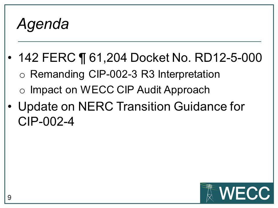 9 142 FERC ¶ 61,204 Docket No.