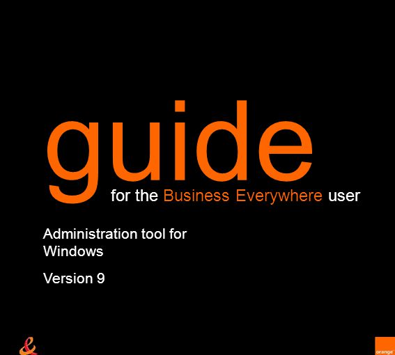 Administration tool for Windows Version 9 guide for the Business Everywhere user