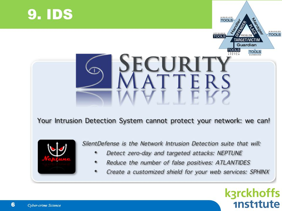 Cyber-crime Science 6 9. IDS