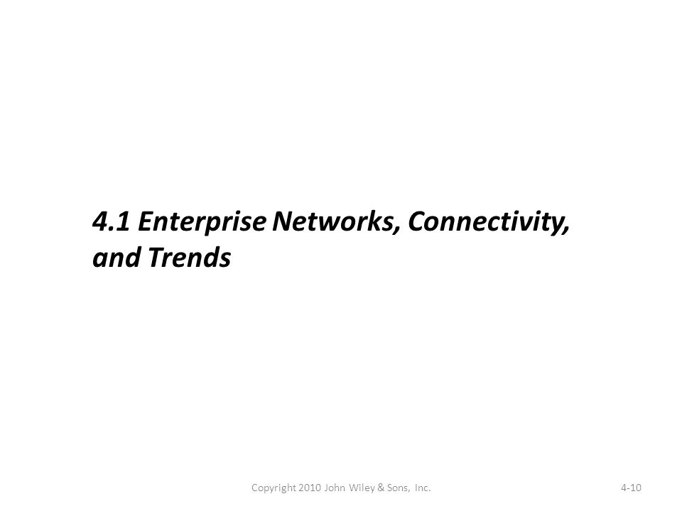 4-10 4.1 Enterprise Networks, Connectivity, and Trends