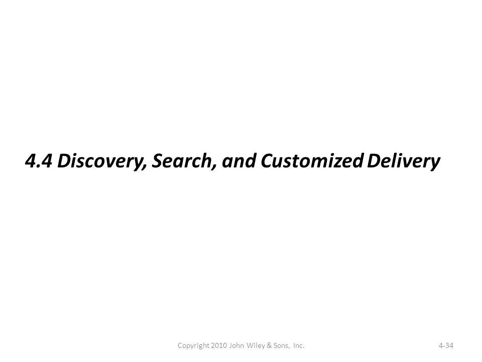 4-34 4.4 Discovery, Search, and Customized Delivery