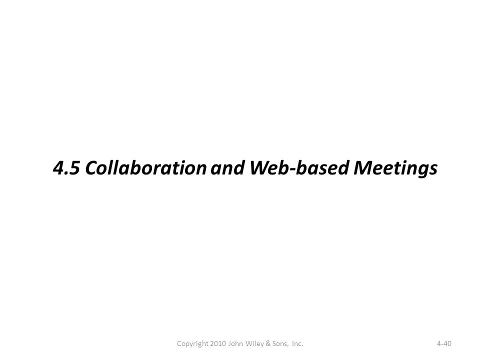 4-40 4.5 Collaboration and Web-based Meetings