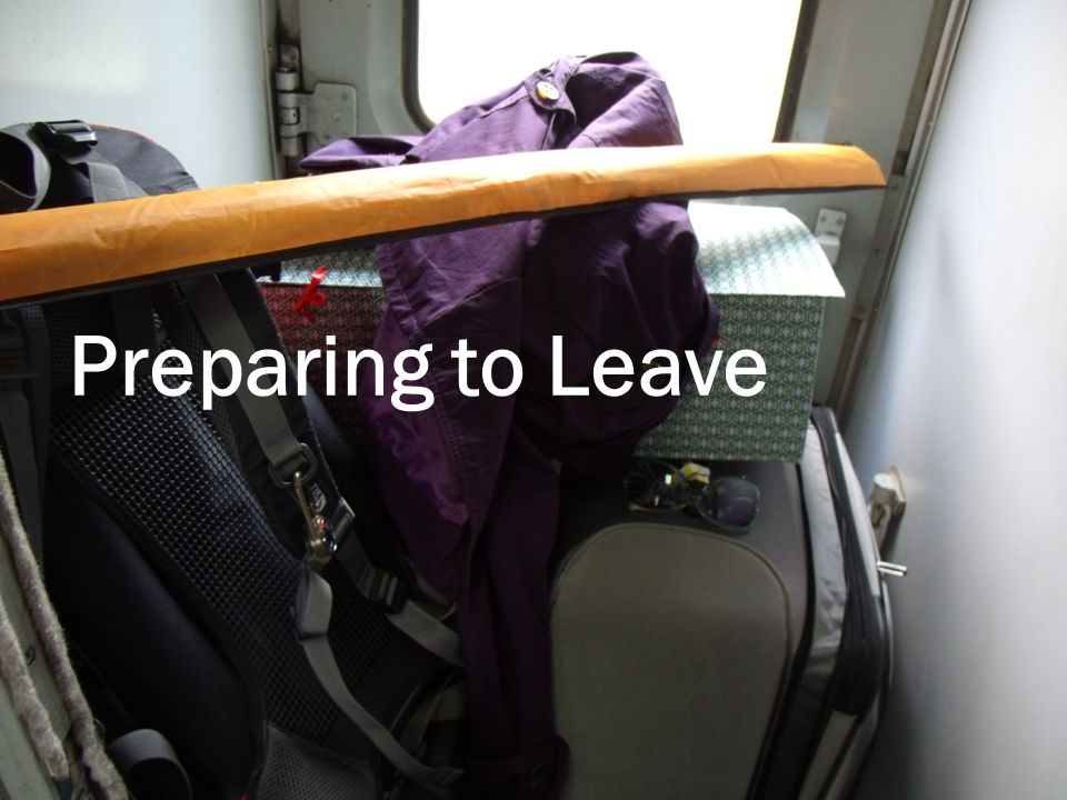 Preparing to Leave