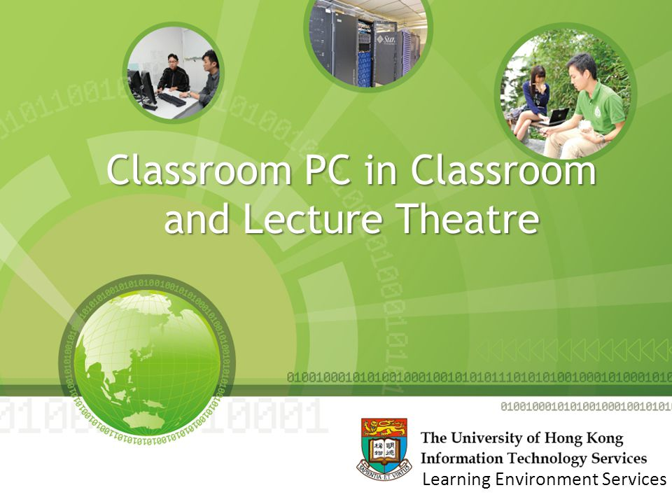 Classroom PC in Classroom and Lecture Theatre 1 Learning Environment Services
