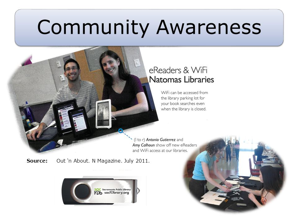 Community Awareness Source: Out n About. N Magazine. July 2011.