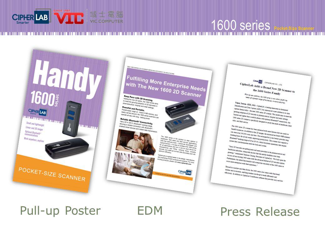 1600 series Pocket-Size Scanner EDMPull-up Poster Press Release