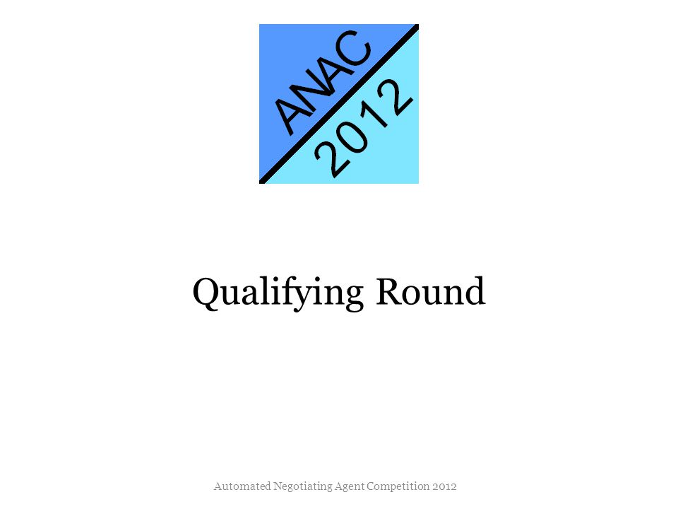 Qualifying Round Automated Negotiating Agent Competition 2012