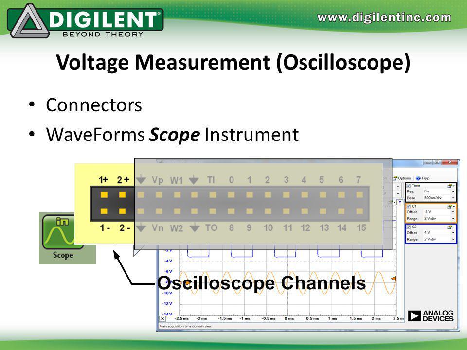 Voltage Measurement (Oscilloscope) Connectors WaveForms Scope Instrument
