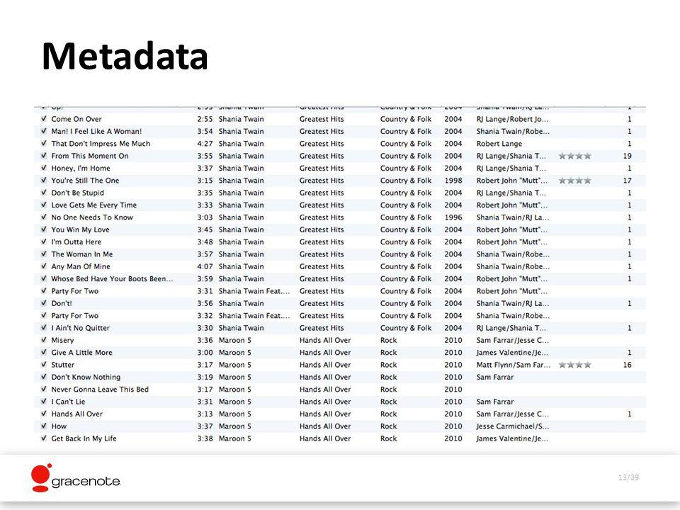13/39 Metadata