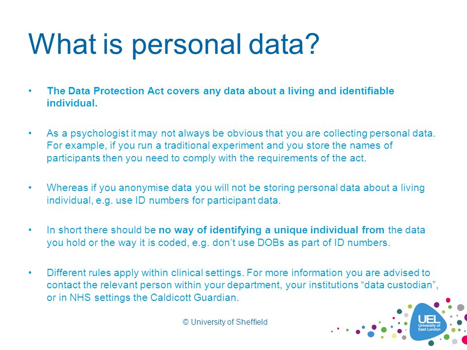 What is personal data.