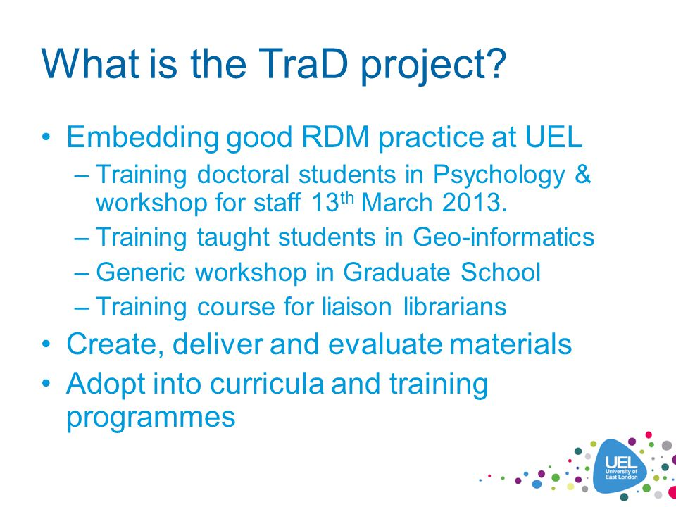 What is the TraD project.