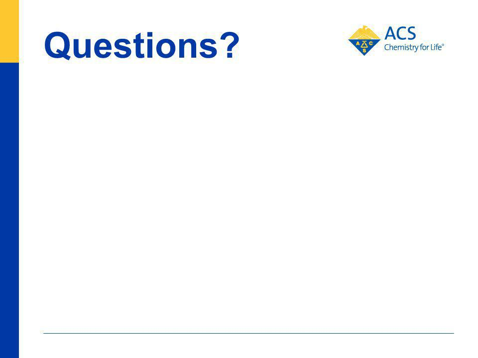 Questions? 90 American Chemical Society