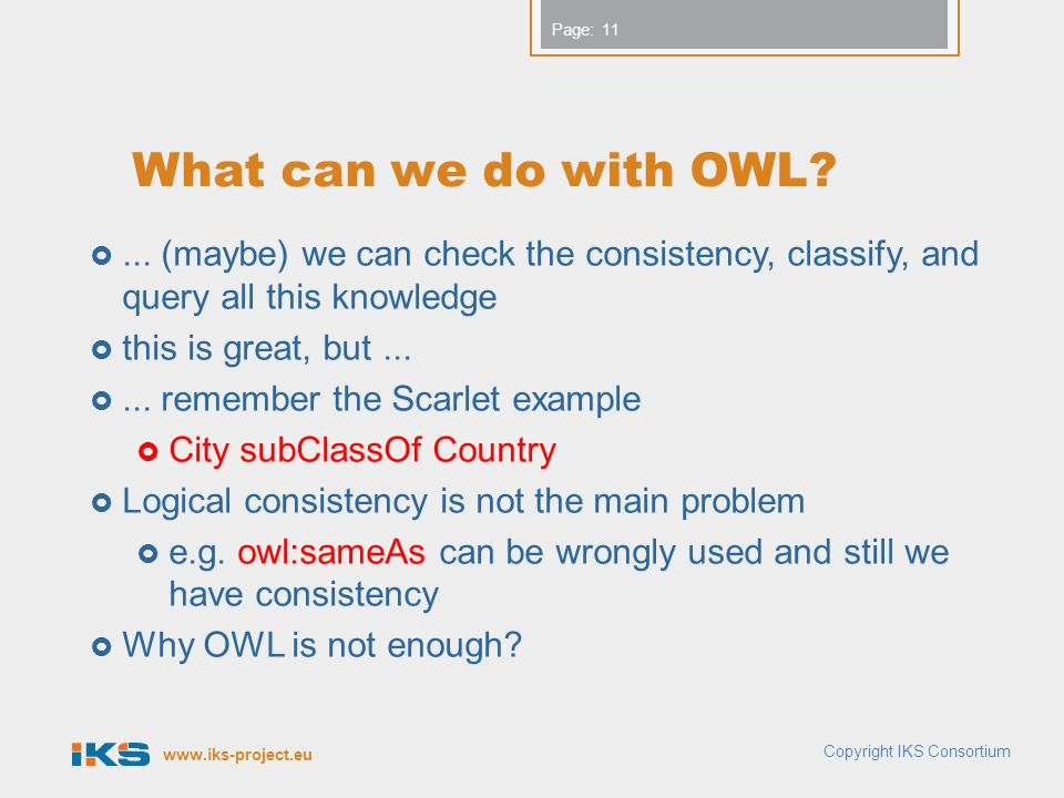 www.iks-project.eu Page: What can we do with OWL ...