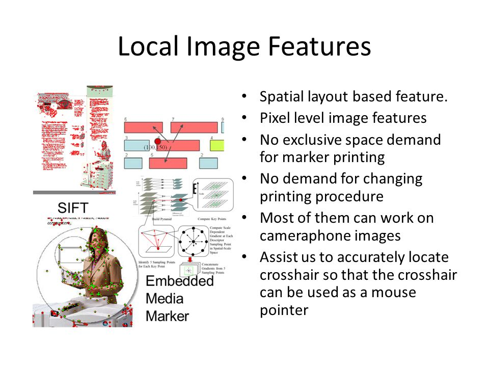 Local Image Features Spatial layout based feature.