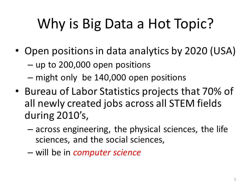 Why is Big Data a Hot Topic.