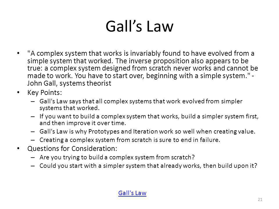 Galls Law