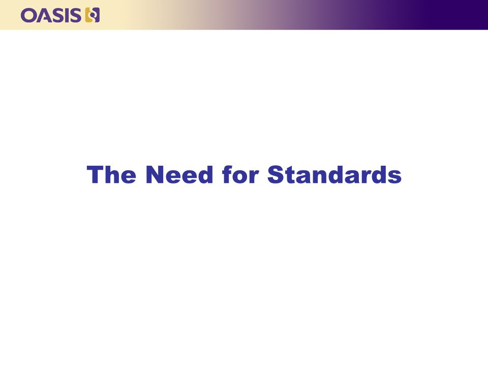 3 The Need for Standards blank