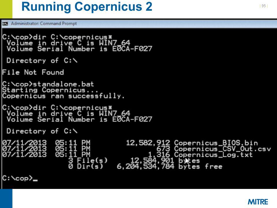 | 95 | Running Copernicus 2