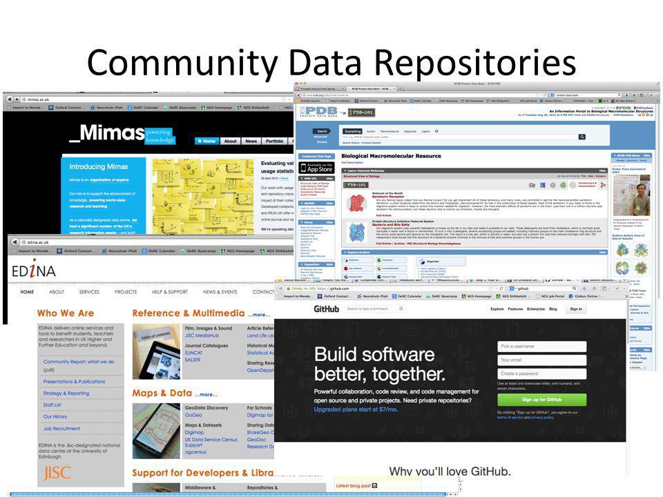 Community Data Repositories