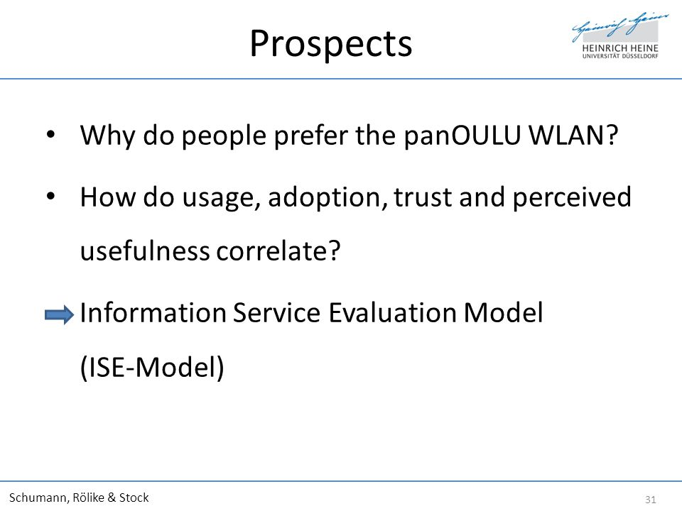 Prospects Why do people prefer the panOULU WLAN.
