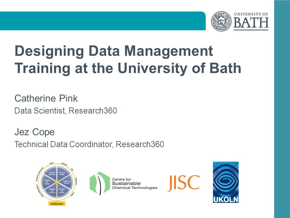 Discussion How have you developed & designed research data management training resources at your institution.