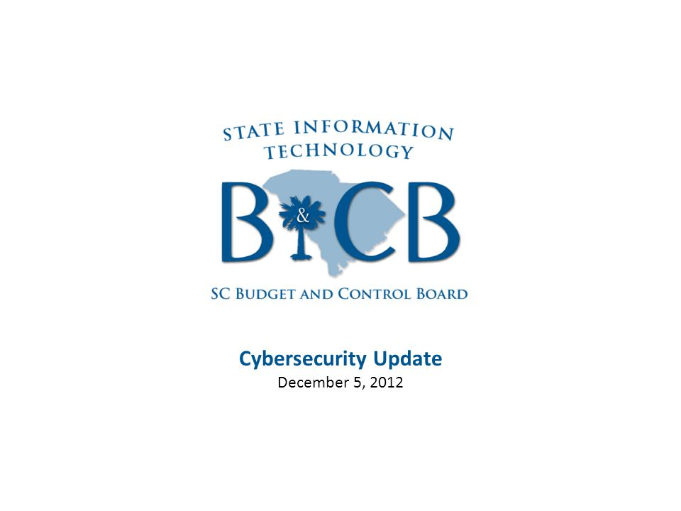 Cybersecurity Update December 5, 2012