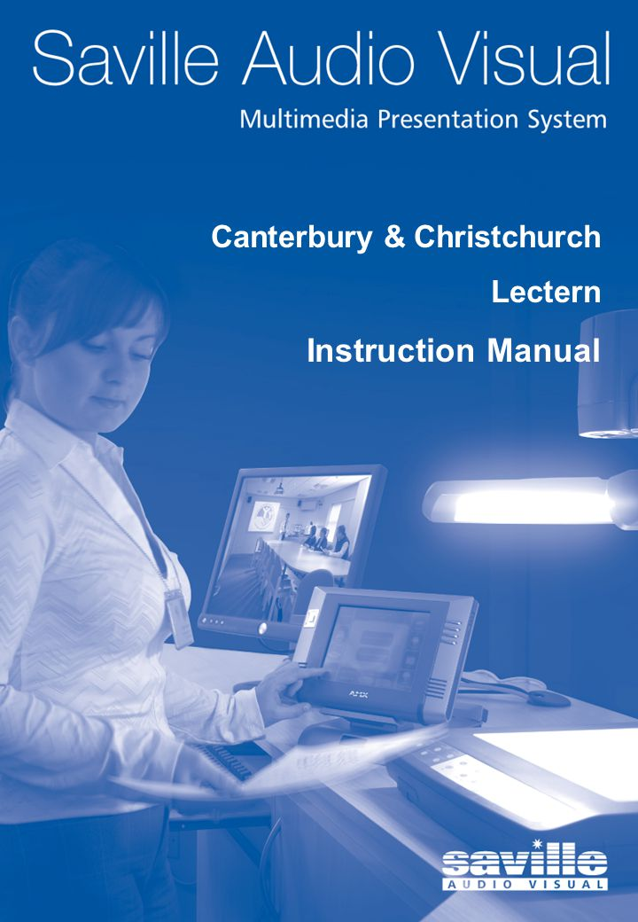 1 Front Cover Canterbury & Christchurch Lectern Instruction Manual
