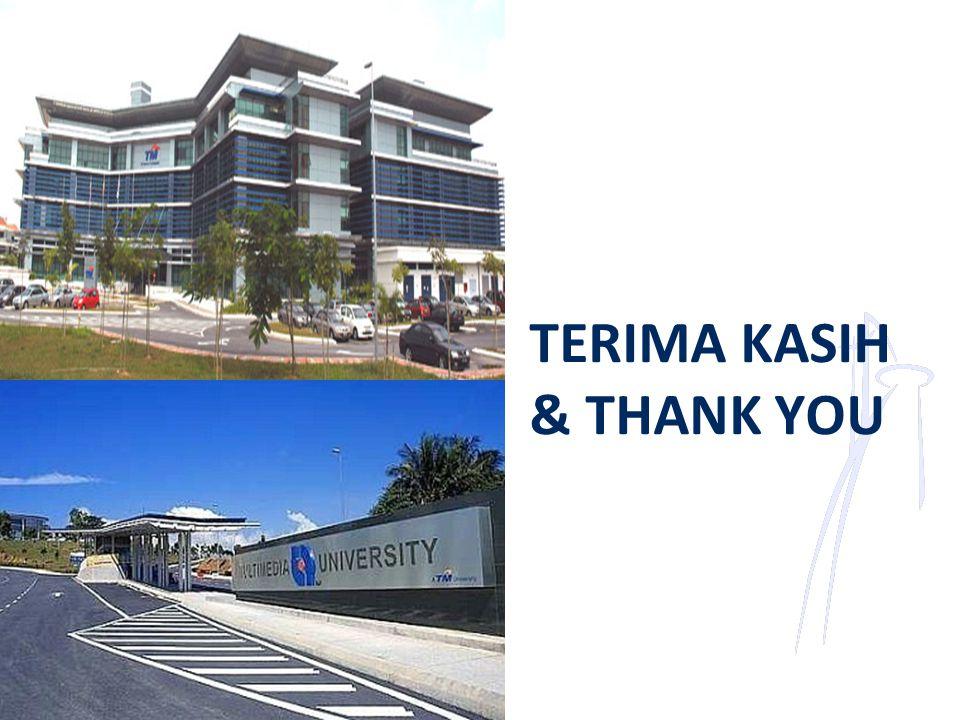 TERIMA KASIH & THANK YOU
