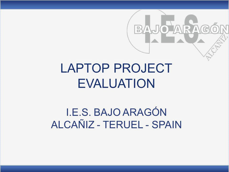 EVALUATION I.E.S. BAJO ARAGÓN ALCAÑIZ - TERUEL - SPAIN