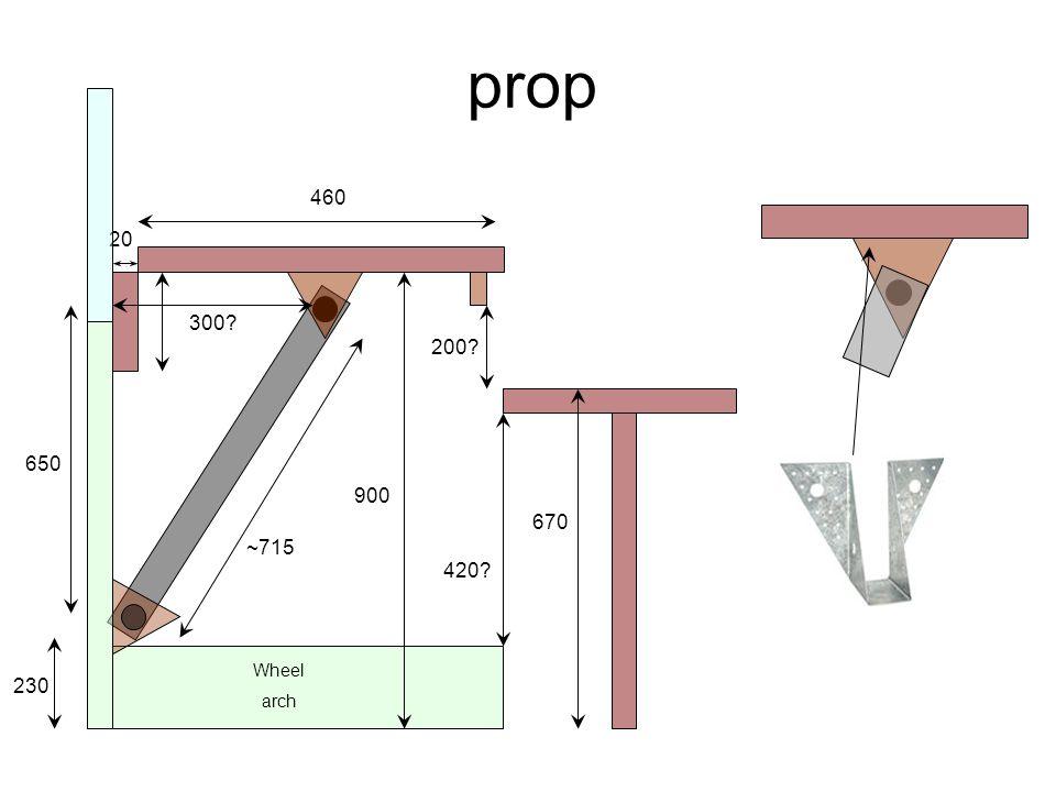 prop Wheel arch 460 20 230 900 200 670 420 650 300 ~715