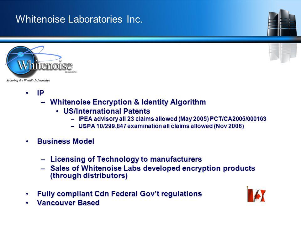 Whitenoise Laboratories Inc.