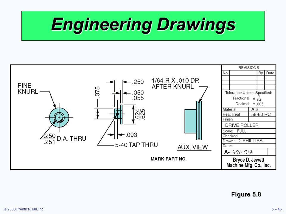 © 2008 Prentice Hall, Inc.5 – 46 Engineering Drawings Figure 5.8
