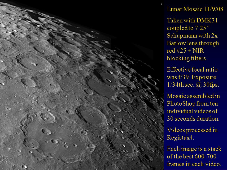 Mosaic of Plato Region