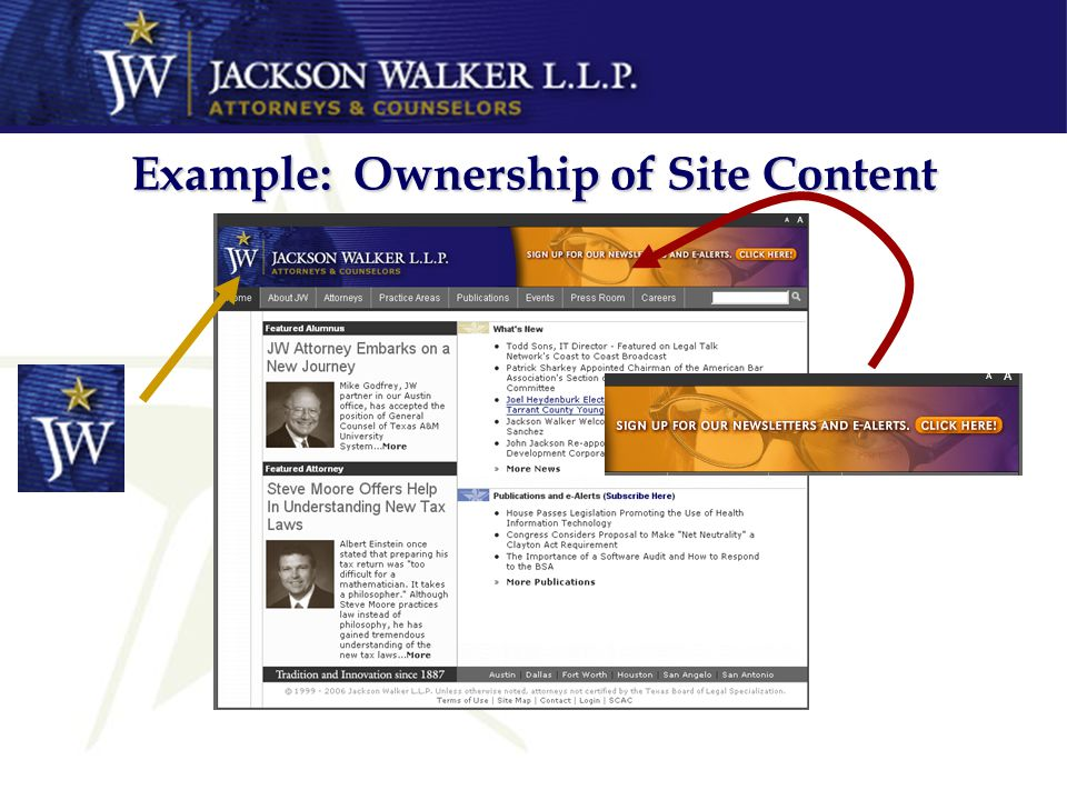 Example: Ownership of Site Content