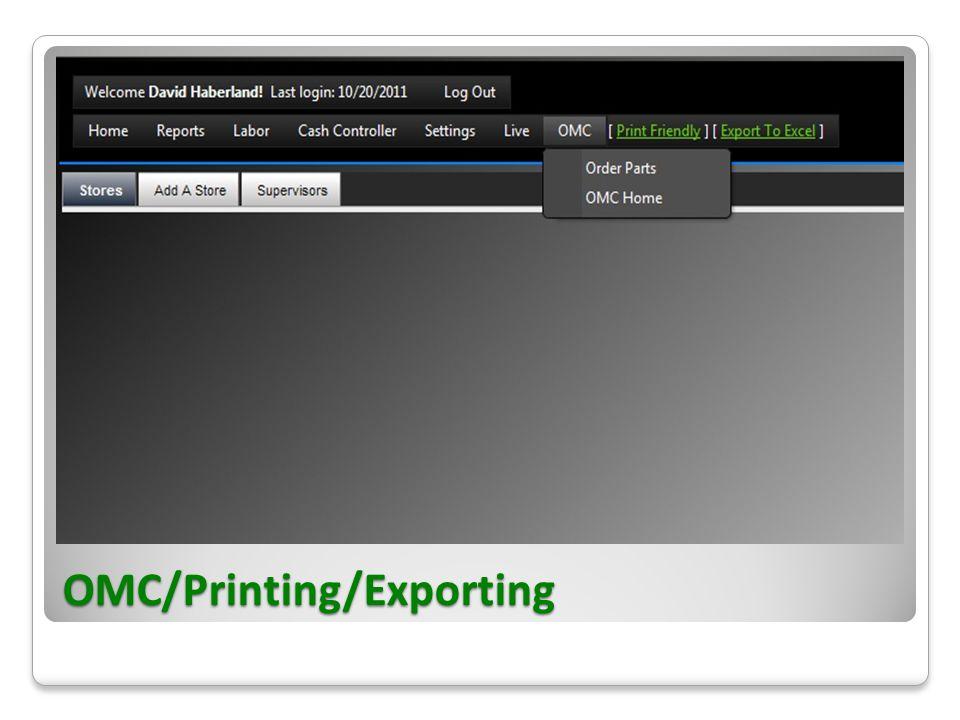 OMC/Printing/Exporting
