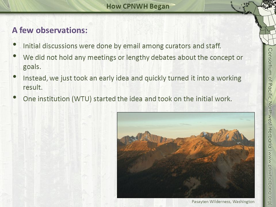 Current NSF grant: In 2009, WTU re-initiated discussions among regional herbaria.