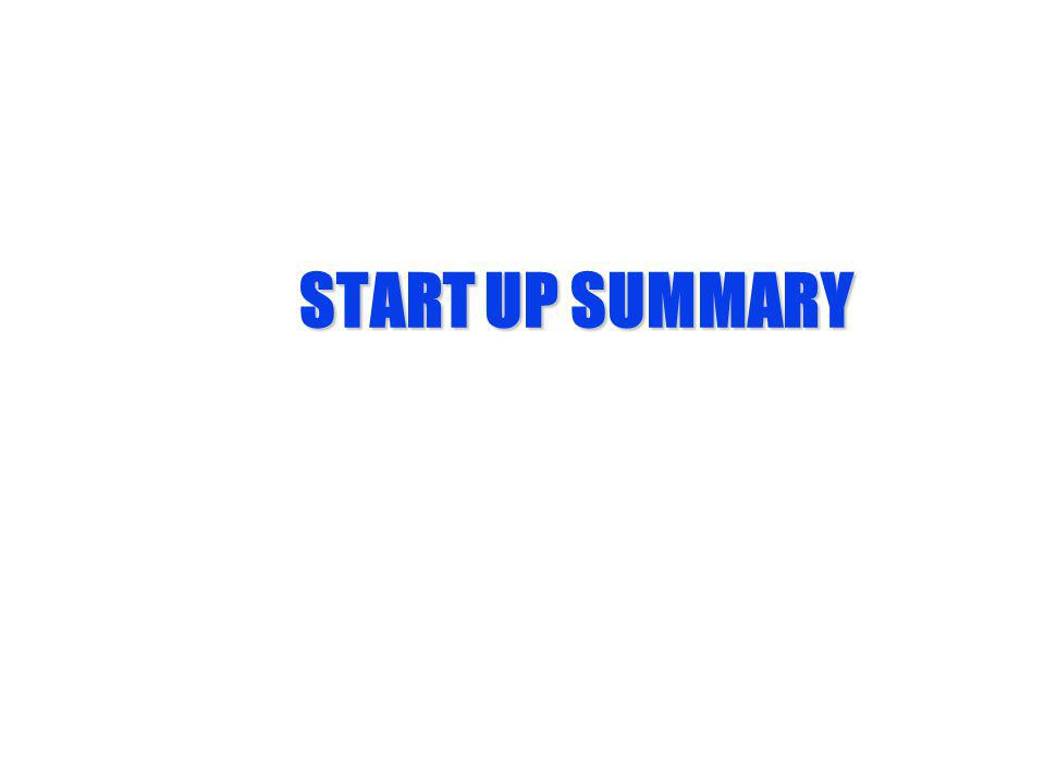 START UP SUMMARY