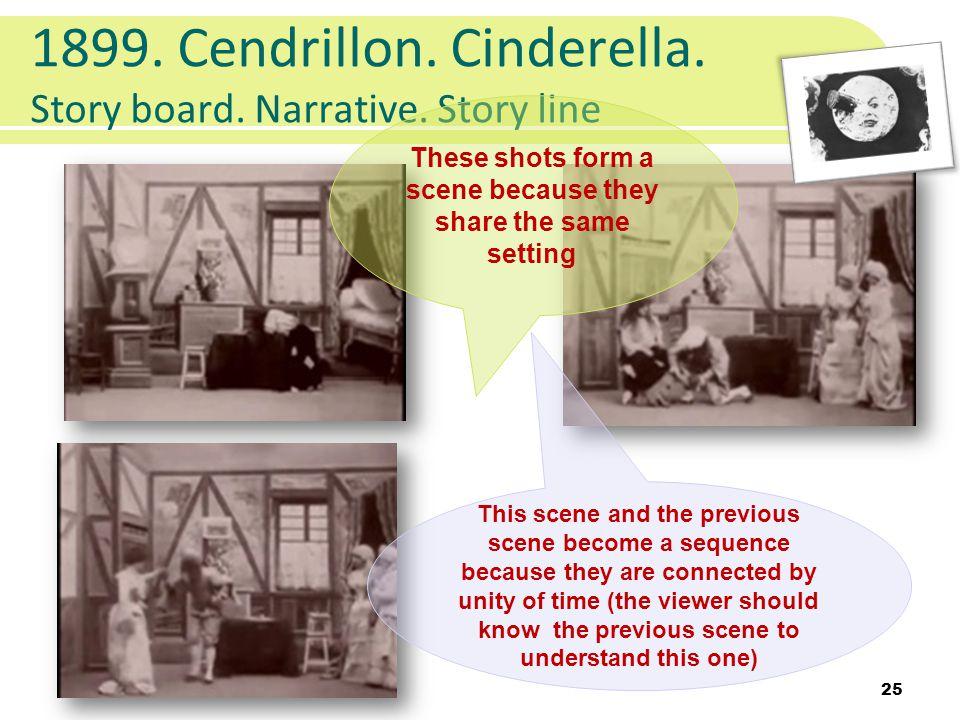 1899. Cendrillon. Cinderella. Story board. Narrative.