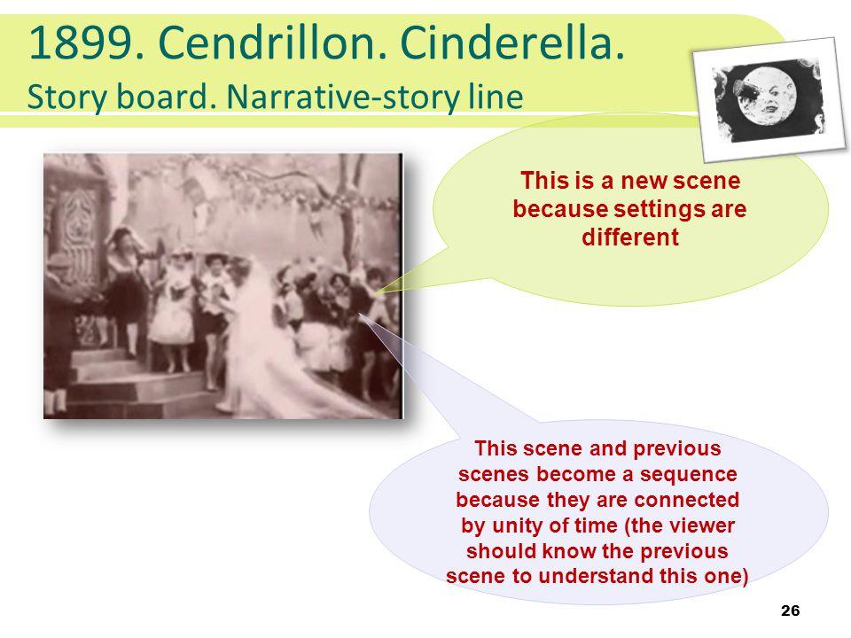 1899. Cendrillon. Cinderella. Story board.