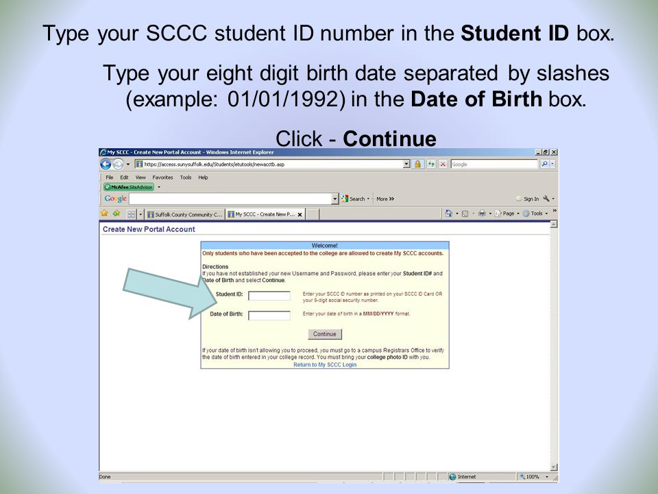 You will be given a Username that is the first four letters of your last name, your first initial and the last two digits of your Student ID #.