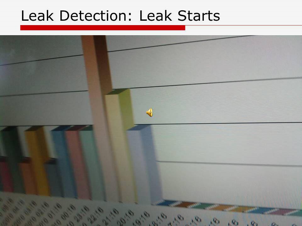 Leak Detection: Leak Starts