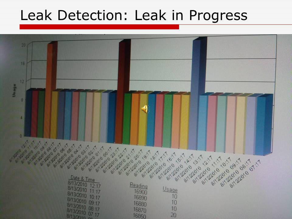 Leak Detection: Leak in Progress
