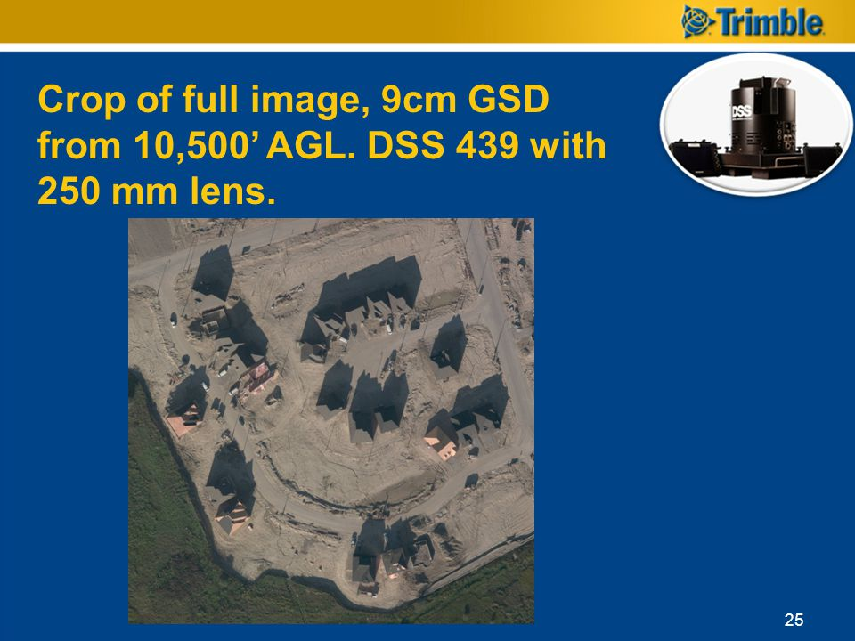 Crop of full image, 9cm GSD from 10,500 AGL. DSS 439 with 250 mm lens. 25