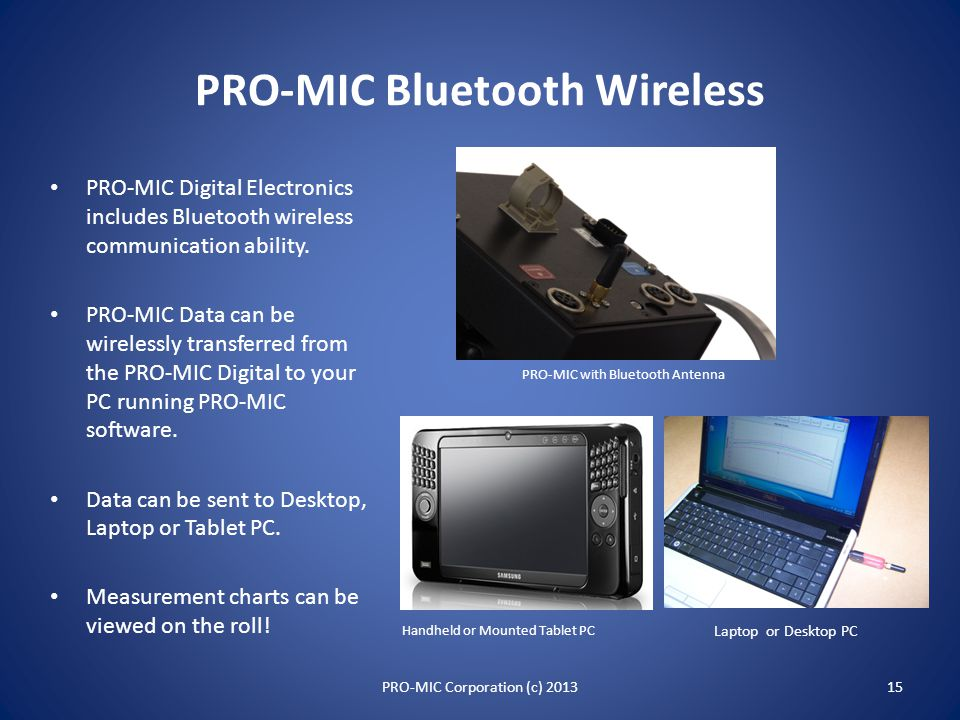 Accessories and Optional Capabilities Bluetooth Wireless Communication Concentricity / Roundness Measurement -- Polar Plot PRO-FILER Handheld Datalogg