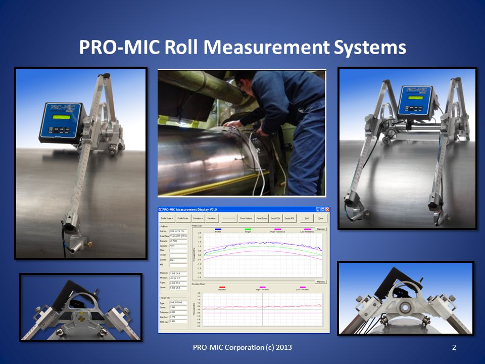 PRO-MIC Roll Measurement Systems An Overview 1PRO-MIC Corporation (c) 2013