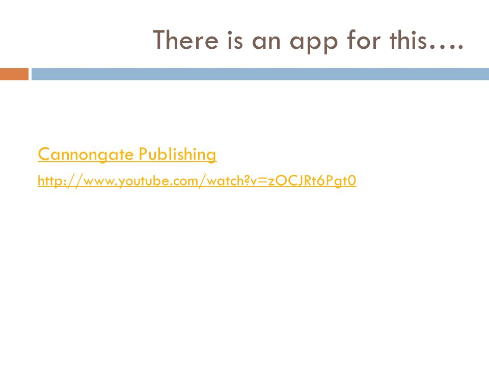 There is an app for this…. Cannongate Publishing http://www.youtube.com/watch?v=zOCJRt6Pgt0