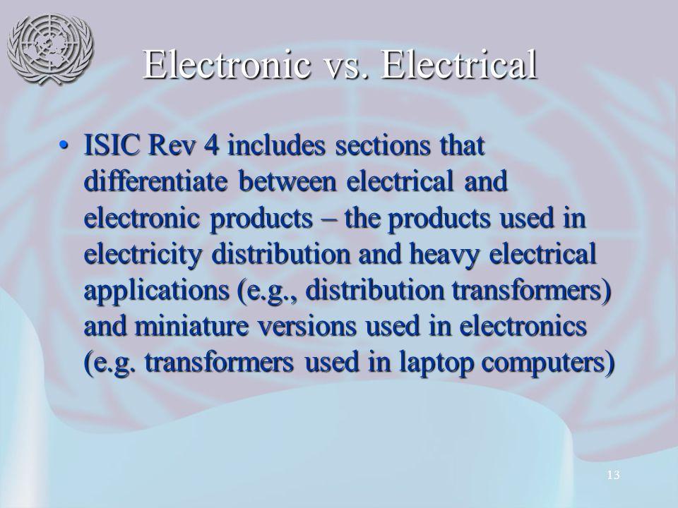 13 Electronic vs.