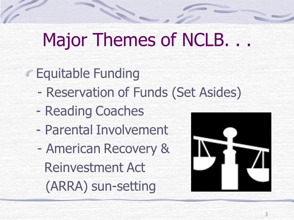 3 Major Themes of NCLB...