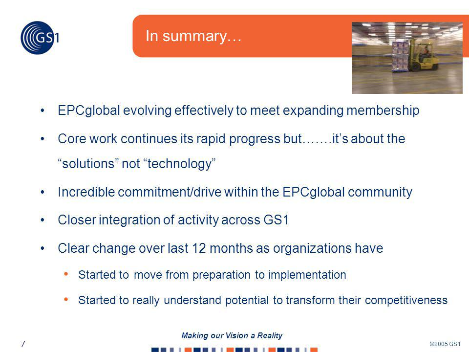 EPC/RFID Technology Group What can we learn from overseas? Bill McLeer EPCglobal US